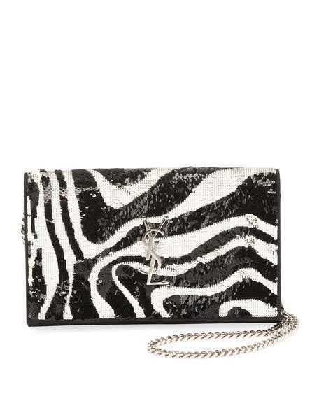 341412f7c81 Saint Laurent Kate Small Zebra Sequin Tassel Crossbody Bag · WorkHut ·  Online Store Powered by Storenvy
