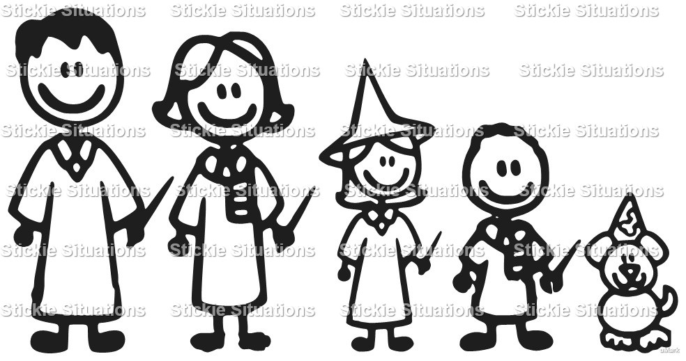 Harry potter family car decal