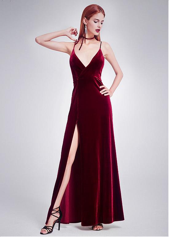 ab56b9b6ba3 2018 Burgundy Prom Dress Evening Dress