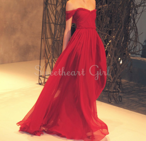 Amazing Red Chiffon strapless sweetheart neckline Prom Dress,Evening ...
