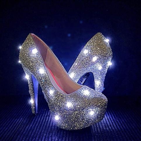 Solid Glitter Heels · Chelsie Dey Designs · Online Store ...