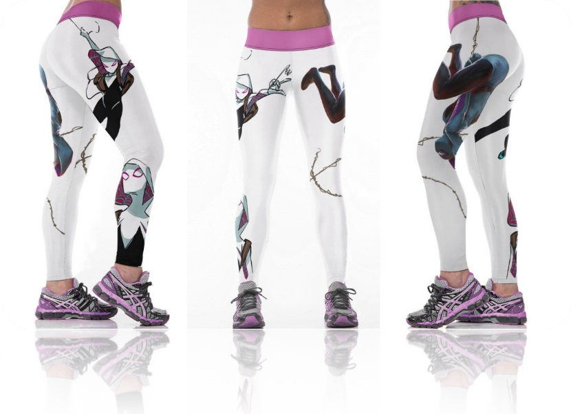 98133ba8b2997 Spider Gwen Super Hero Marvel Comics Sports Leggings · SportsMegas ...