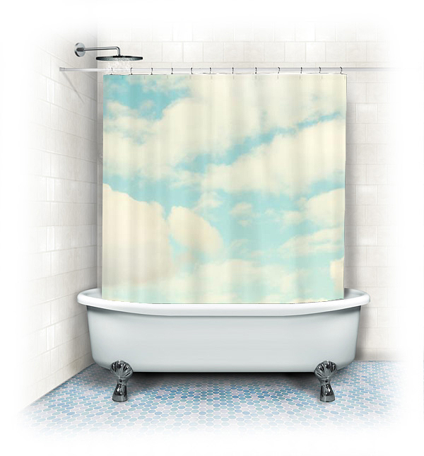 Fabric Shower Curtain Clouds On Storenvy