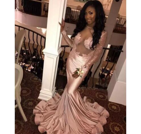 63ca04964a 2018 Sexy Black Girl Prom Dress Evening Dress
