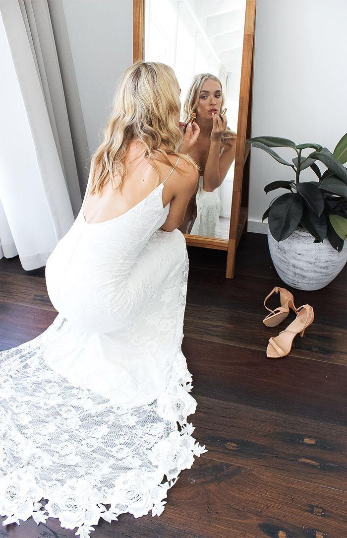 2019 Lace Country Boho Beach Wedding Dress, Lace Wedding Dresses ...