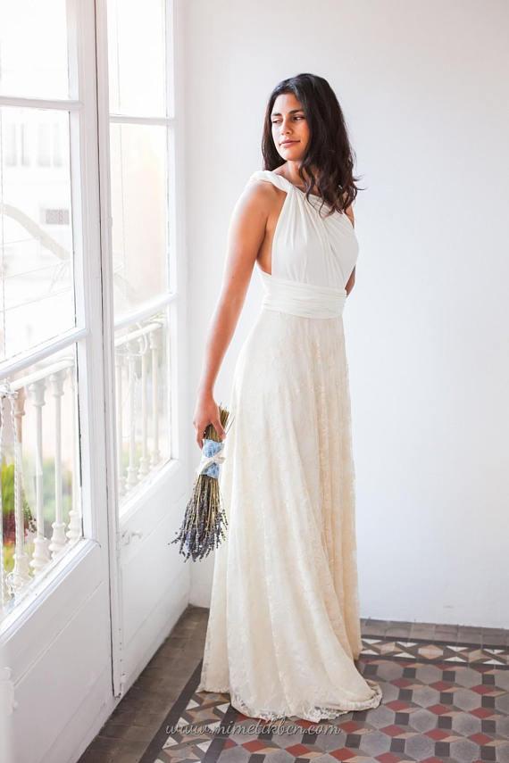 Casual Wedding Dress Bridal Gowns Boho Wedding Dress Lace Casual Bridal Gown Casual Wedding Dresses Boho Wedding Dress Casual Bride From Misszhu