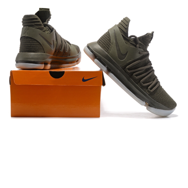 separation shoes a2381 db452 Newest Nike KD X 10 Olive Green Kevin Durant Men's Basketball Shoes from  Self Love Boutique