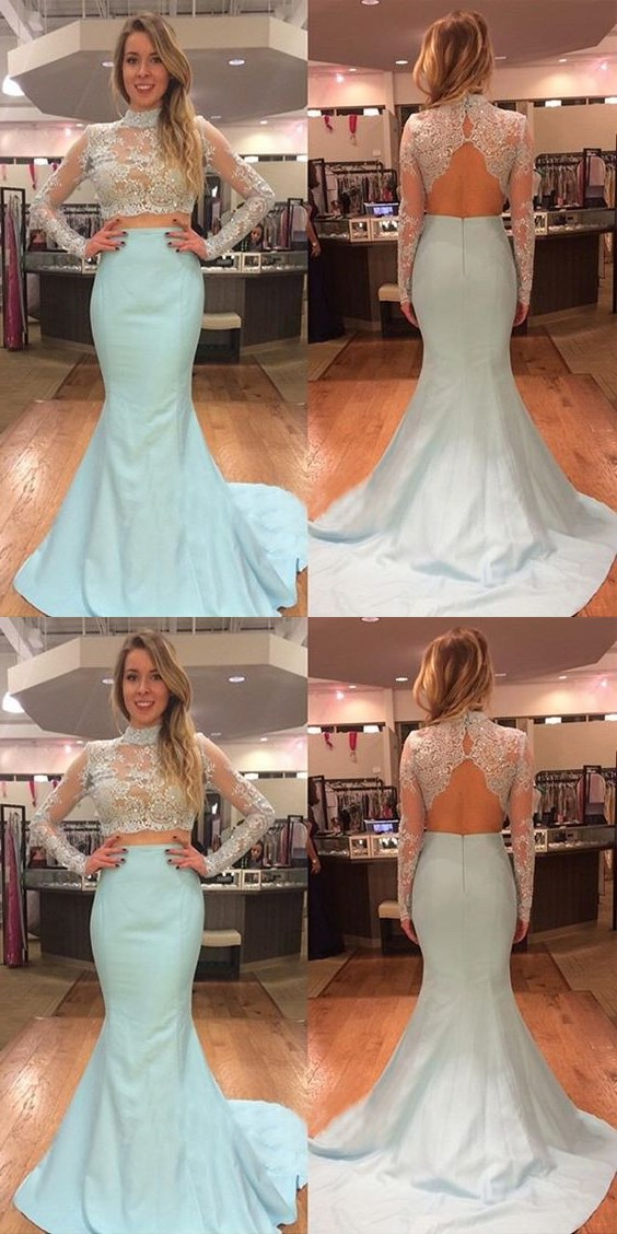 e7f4038bb99 Glamorous Two Pieces Prom Dress