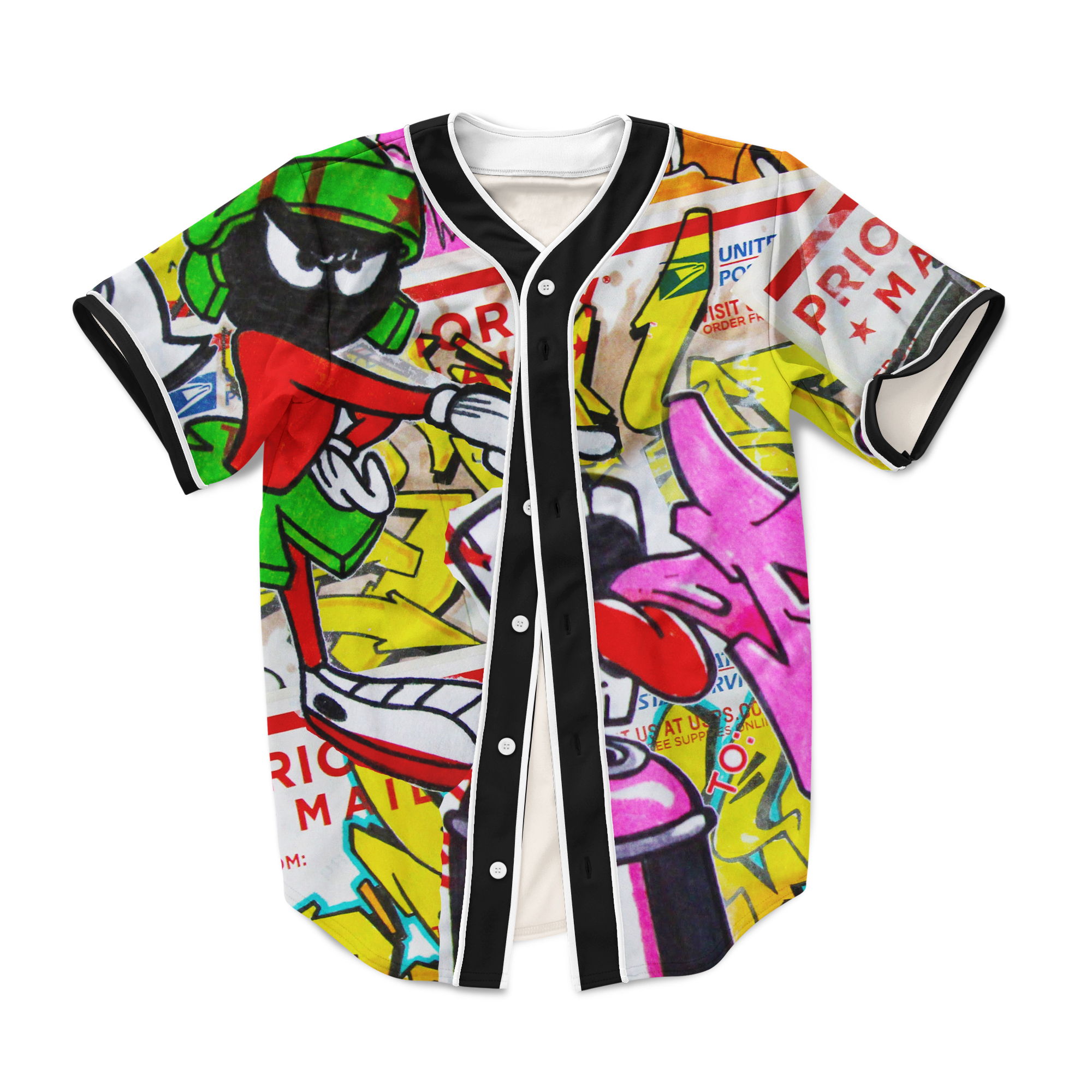 Graffiti 90s clothing baseball jersey 3d sublimation print plus size on storenvy