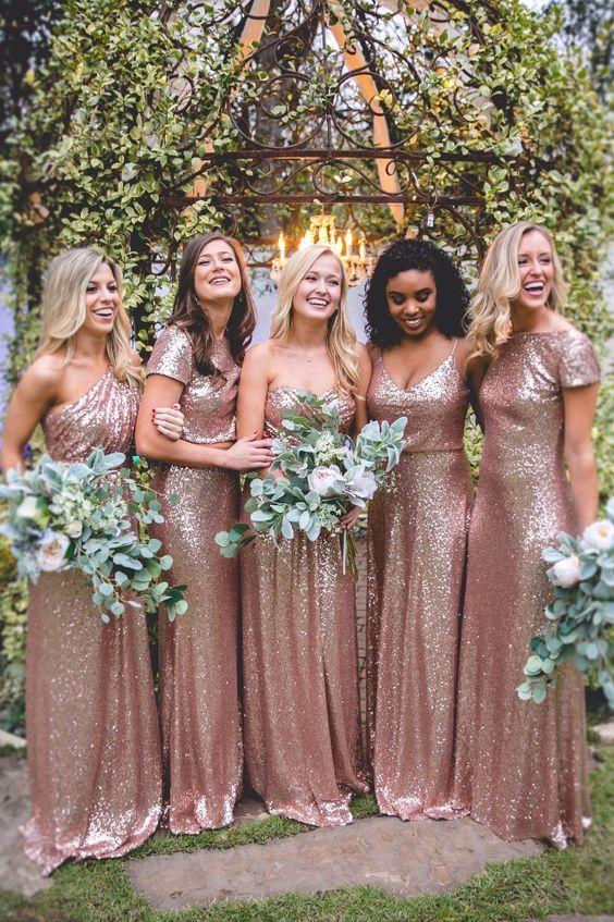 5f3b2510beb 2018 Rose Pink Bridesmaid Dress
