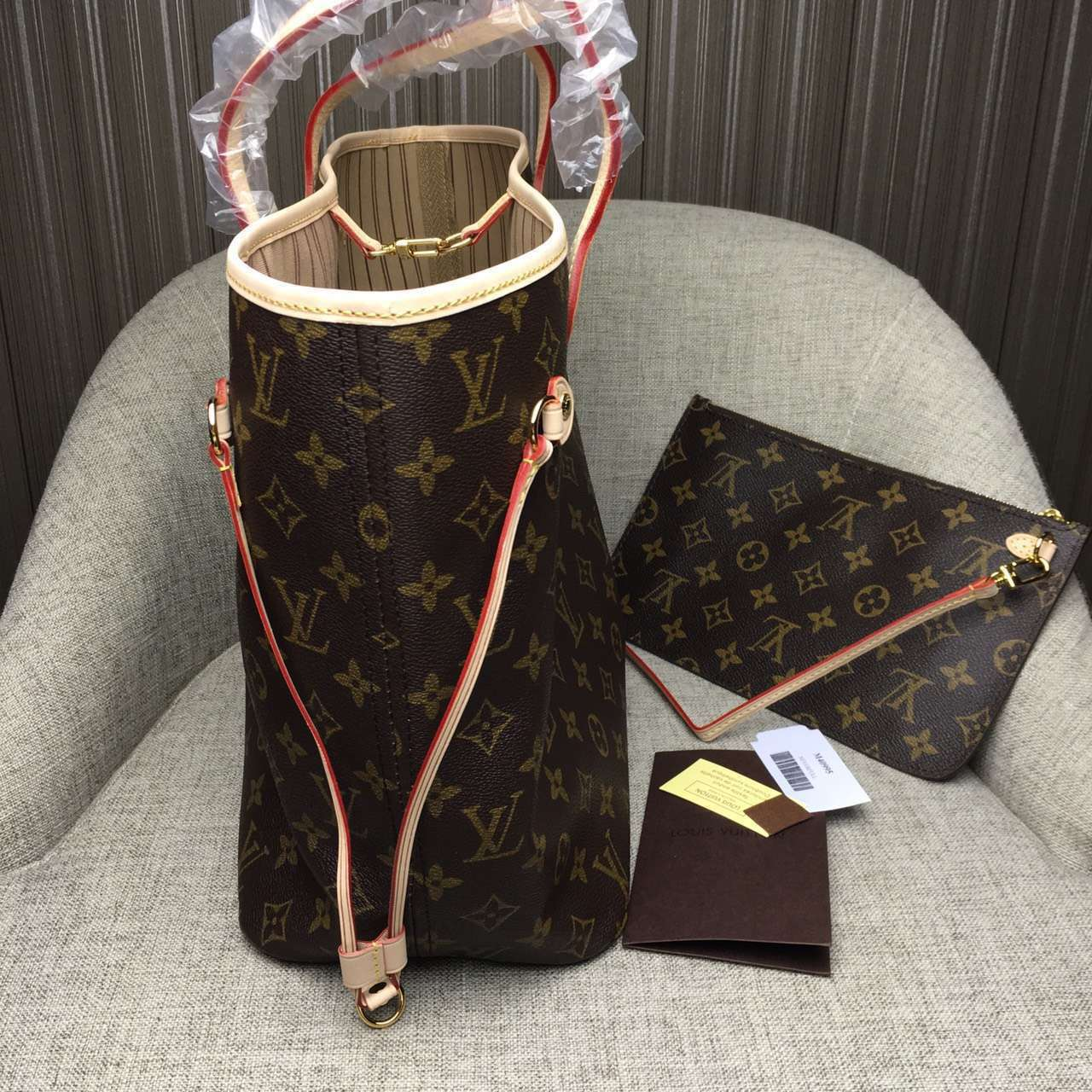 d5949dad58f9 Louis Vuitton Monogram Canvas Neverfull MM Beige on Storenvy