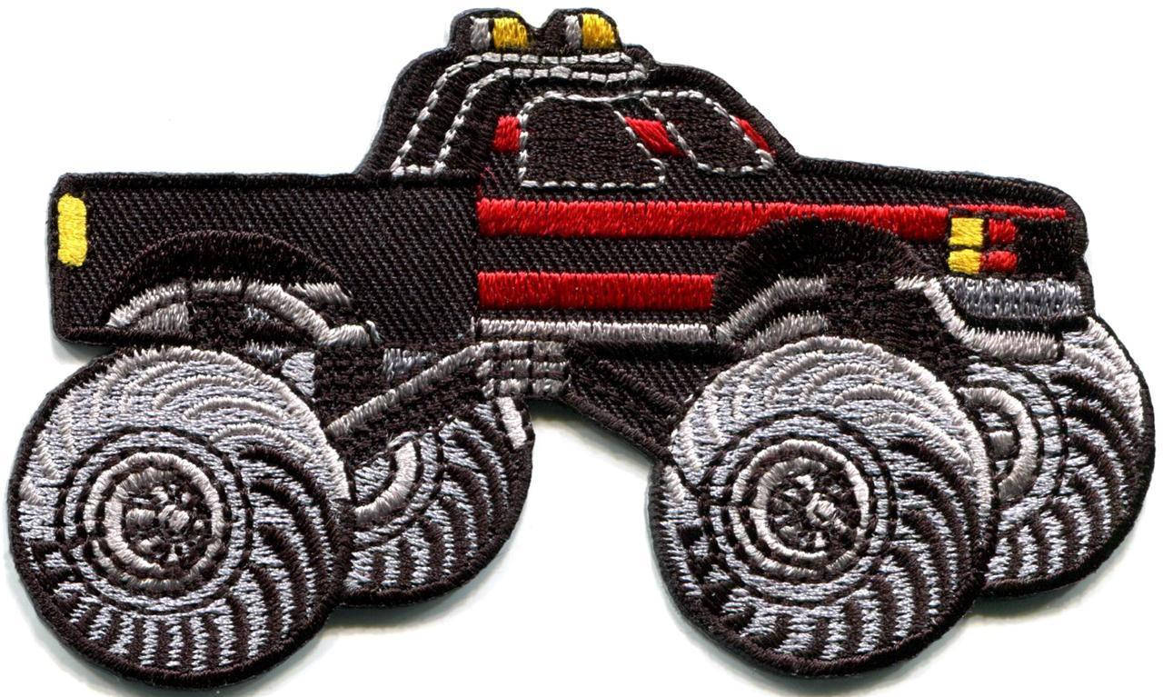 Monster truck pickup auto racing ute applique iron on patch new
