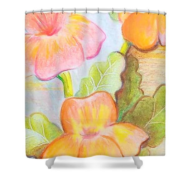 Gold Pansies Shower Curtain On Storenvy