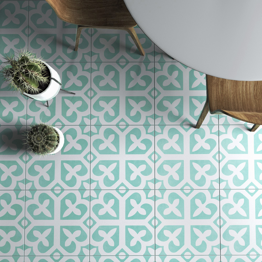 Nantes Tile Stickers, Suitable for Wall and Floor, Waterproof, Tile ...