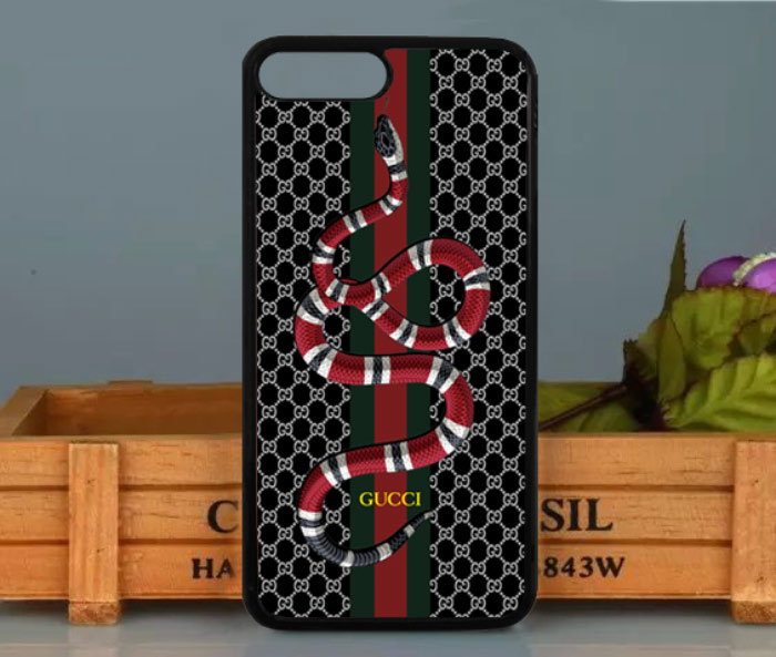big sale 064a5 0f48d Gucci Snake Black Pattern LineCase for iPhone 5 5s SE 6 6s 7 8 Plus X  Samsung S7 S8 Note 8 Cover + from FushionShop