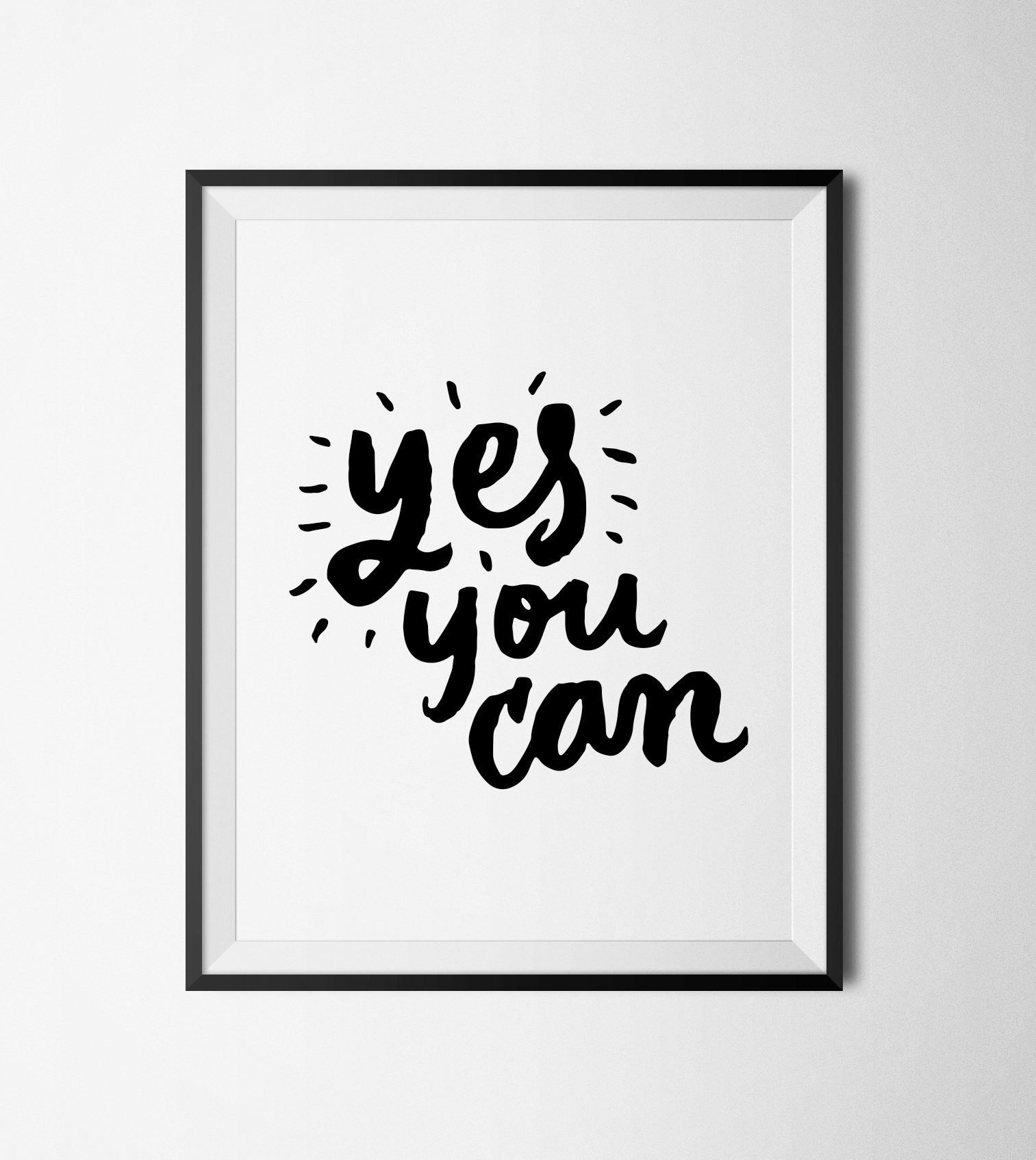 picture regarding Printable Posters identified as Motivational Poster, Certainly Oneself Can Printable Estimate, Typography Wall Artwork, Printable Artwork, Typography Print, Quotation Posters bought by way of Deliver A Wake Studio