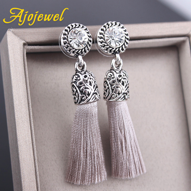 5cae70b61 Crystal Silk Tassel Earrings · The Full Blossom Boutique · Online ...