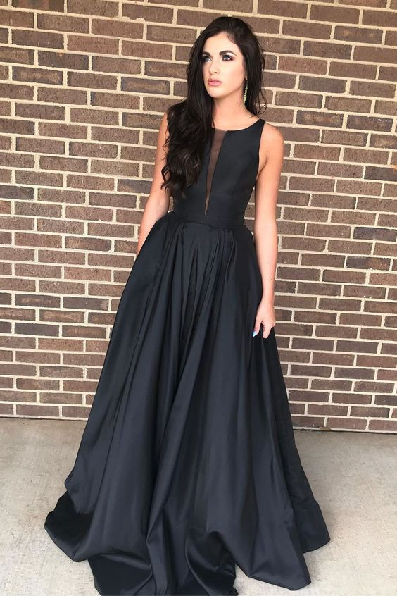 5e094978b4b 2018 red long prom dress with pockets