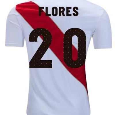 cdd073f13 Edison flores  20 peru men s national team home soccer jersey 2018 shirt  white - Thumbnail