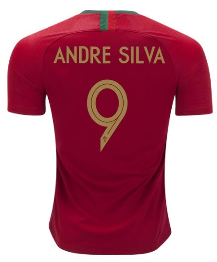 7872a786682 Andres Silva  9 Portugal Home Men s Soccer Jersey 2018 Football ...