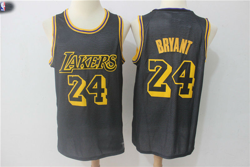 7757fd0f2 24 Kobe Bryant Los Angeles Lakers Authentic Jersey Black City ...