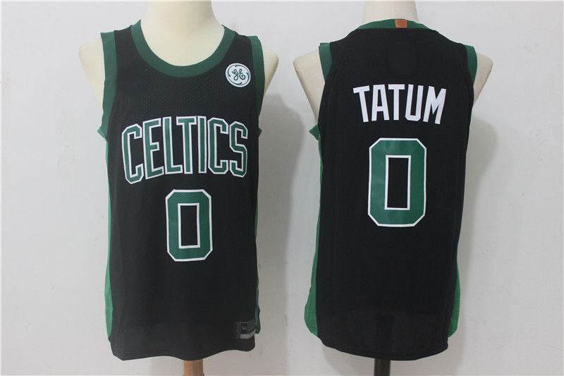 sale retailer 9149f c6772 2017-18 Boston Celtics #0 Jayson Tatum Jersey Black from teamjerseyinc