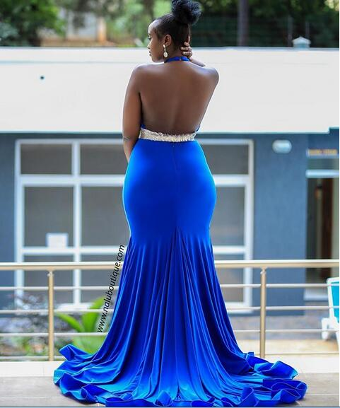 7c607ccdfa Plus Size Royal Blue Mermaid Prom Dresses Backless African Girl ...
