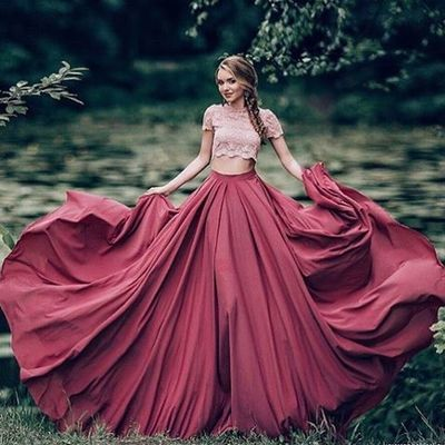 Ball Gown Prom Dress New Gorgeous Burgundy Sweep Train Lace Sweet 16