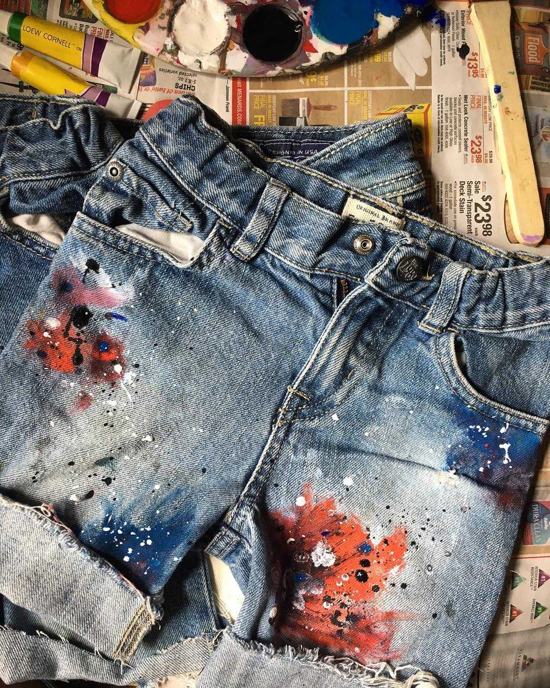 6cbcaf4b3 Kids Hand Painted Denim on Storenvy