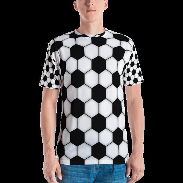 0b93e7b2a87 Soccer Ball Pattern All Over Print T-shirt · DeliriousThreads ...