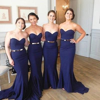 40435796fde4 Women sexy mermaid sweet heart royal blue cheap long wedding party  bridesmaid dresses, wg106