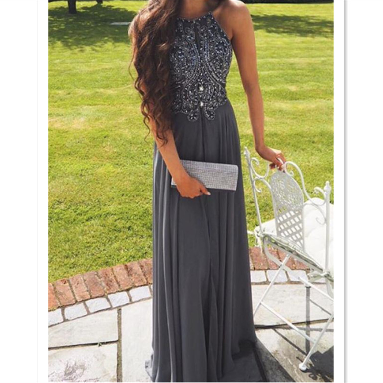 db2b09ec08 Dark Grey Prom Dress