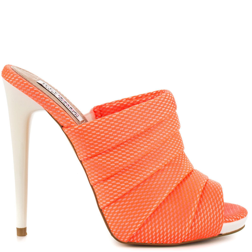 f23f9deabf7 Iggy Azalea by Steve Madden Women Shoes Heels Slippers Sandals Coral Orange  Neon