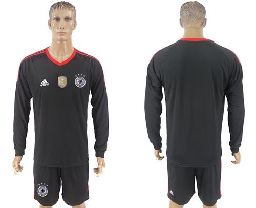 f5cffa77a80 Germany Blank Black Goalkeeper Long Sleeves Soccer Country ...