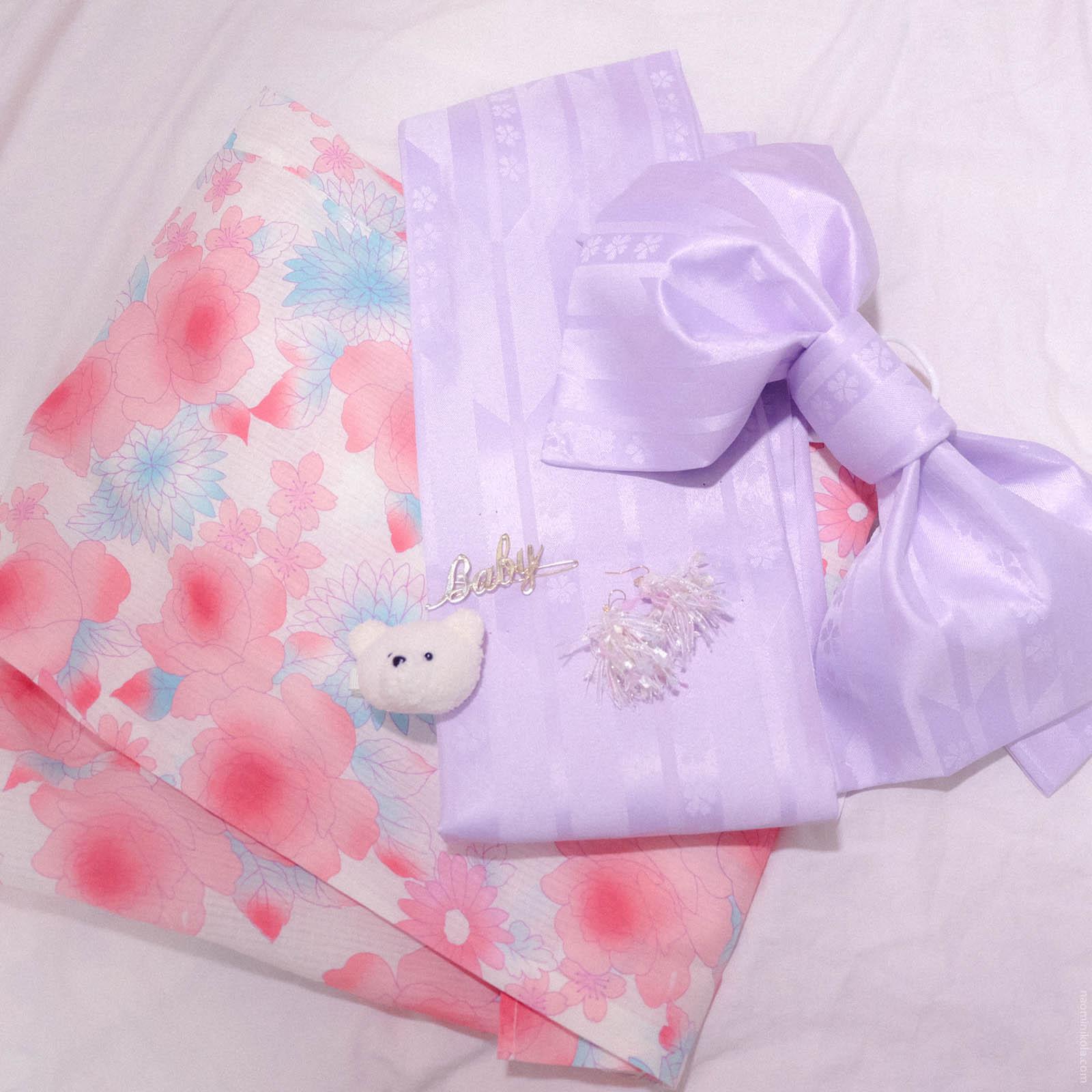 2a92ae99b962e Kawaii Peach Pink Yukata Set on Storenvy