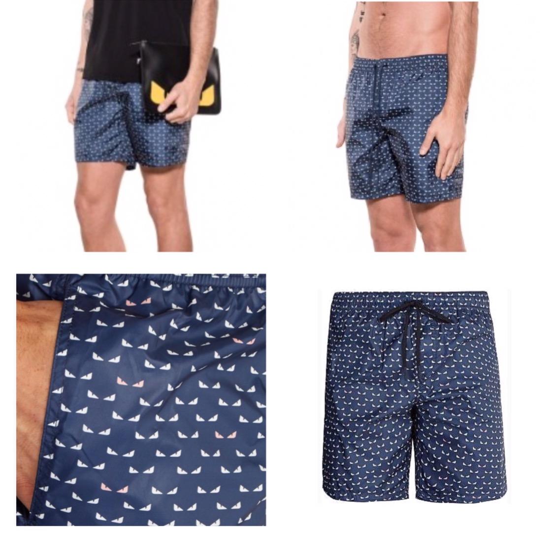 4df5db584f Men s navy MONSTER EYES bag bugs-print swim shorts on Storenvy