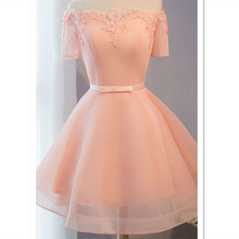 6b6c615f36e Princess Party Homecoming Dresses Short Pink Dresses With Lace Up ...