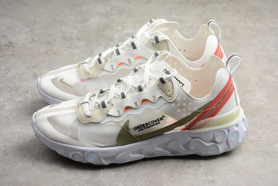 0902dd97ccf86 Undercover x Nike Epic React Element 87 Running shoes Cream Red ...