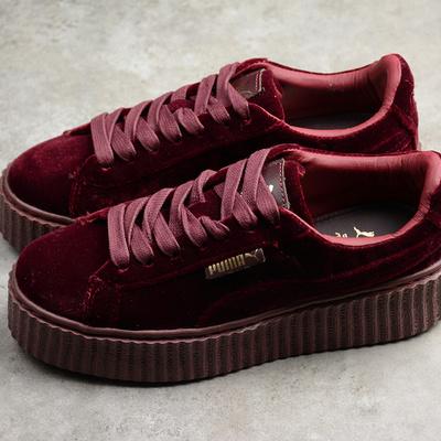 37e60da1a03c1a Rihanna x puma fenty women s creepers velvet purple burgundy shoes