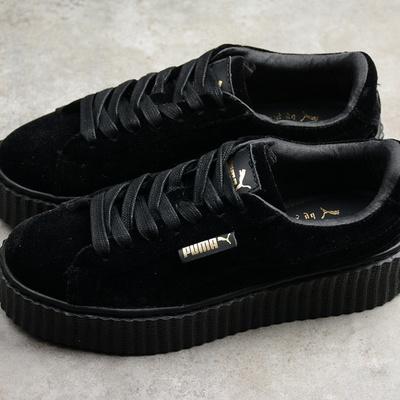 80f5d8c23c4edb Rihanna x puma fenty women s creepers velvet black shoes