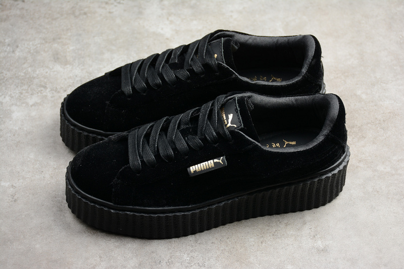Rihanna X Puma Fenty Women s Creepers Velvet Black Shoes on Storenvy 442ae7c88