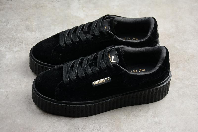 e05917f013a240 Rihanna X Puma Fenty Women s Creepers Velvet Black Shoes on Storenvy