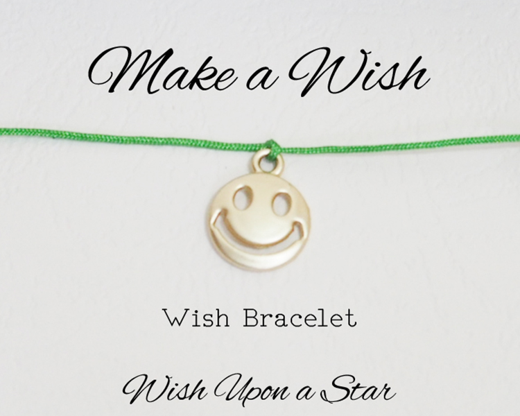 Smiley Face Bracelet Wish Bracelet Make A Wish Friendship