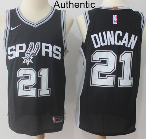 Nike Spurs  21 Tim Duncan Black NBA Authentic Icon Edition Jersey on ... d3cbeffc6
