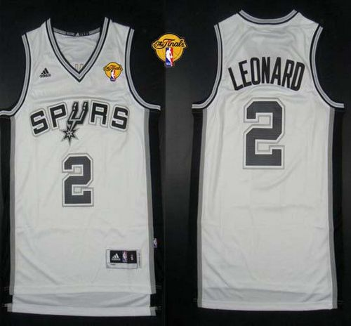 new arrival 7748e e7100 Revolution 30 Spurs #2 Kawhi Leonard White Finals Patch Stitched NBA Jersey  sold by NBAJerseysales1