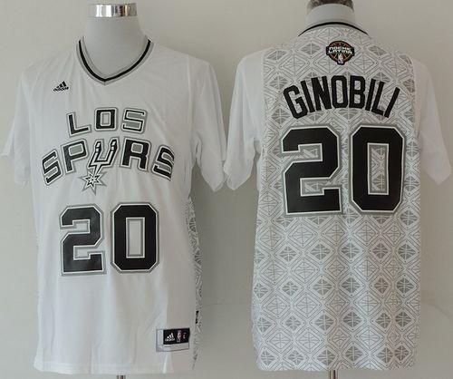 finest selection 2a274 05065 CopSpurs #20 Manu Ginobili White New Latin Nights Stitched NBA Jersey sold  by NBAJerseysales1