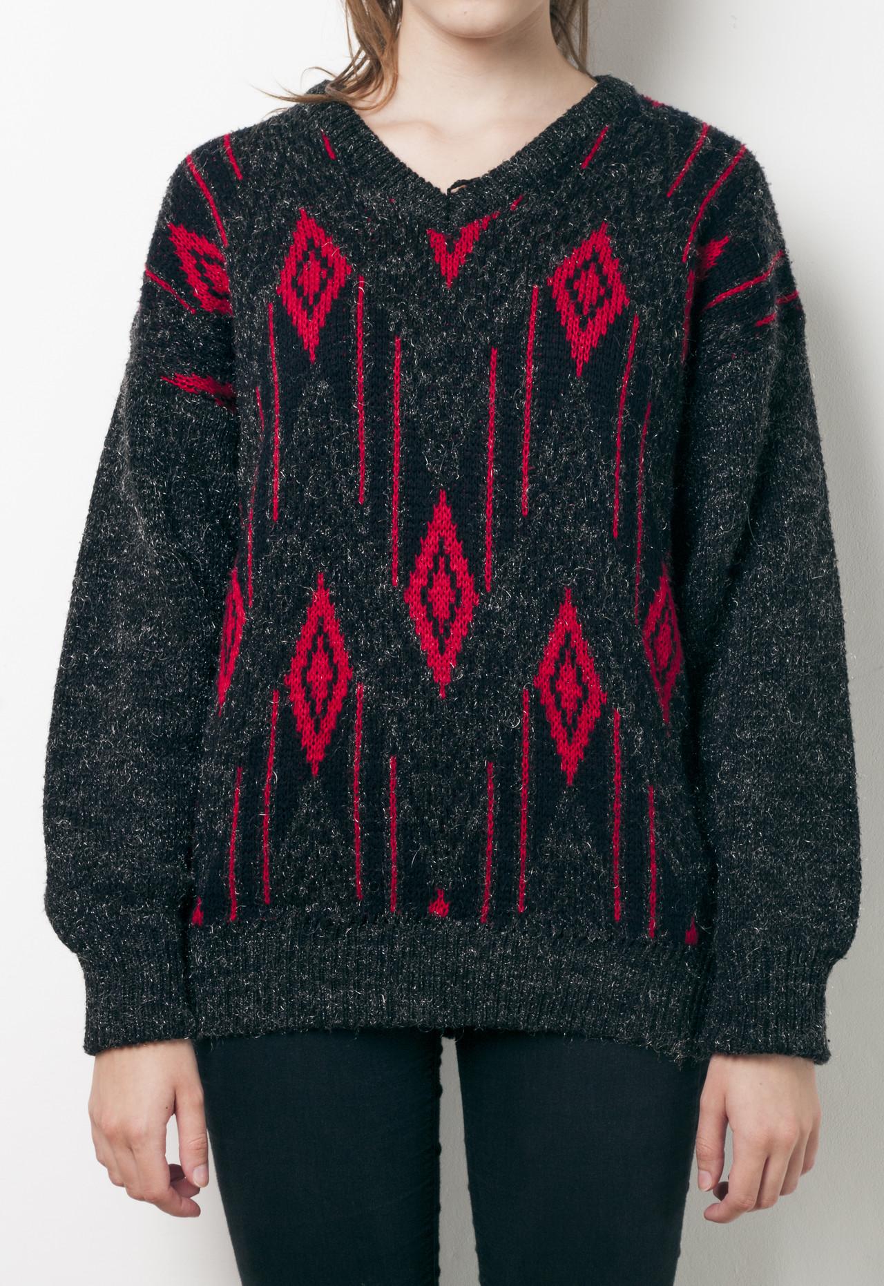 d5782f778f3df7 80s vintage red diamond knit jumper · Pop Sick · Online Store ...
