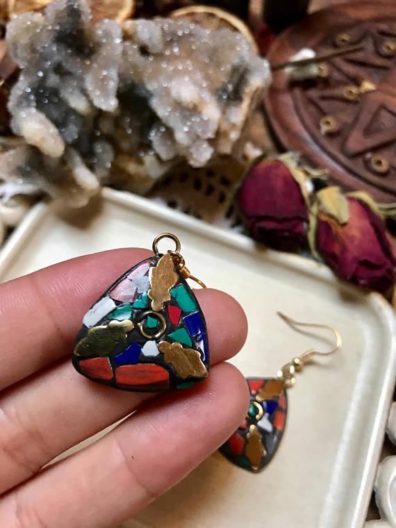 d4a3081be Röötz -Tibetan Hook Earrings, Nepalese Earrings, Tibetan Turquoise, Coral,  Lapis Stone Earrings, Boho Style, ethnic ,gift for her on Storenvy