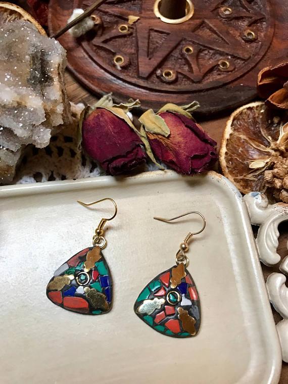 9c32720d0 Röötz -Tibetan Hook Earrings, Nepalese Earrings, Tibetan Turquoise ...