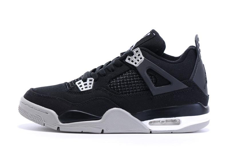 6e8f66c3c30 Eminem x Carhartt x Nike Air Jordan 4 Retro Black silver Shoes